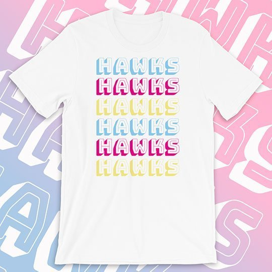school shirt text repeat multi color style