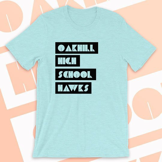 school shirt line letter style