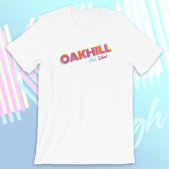 school shirt miami vice 3d style