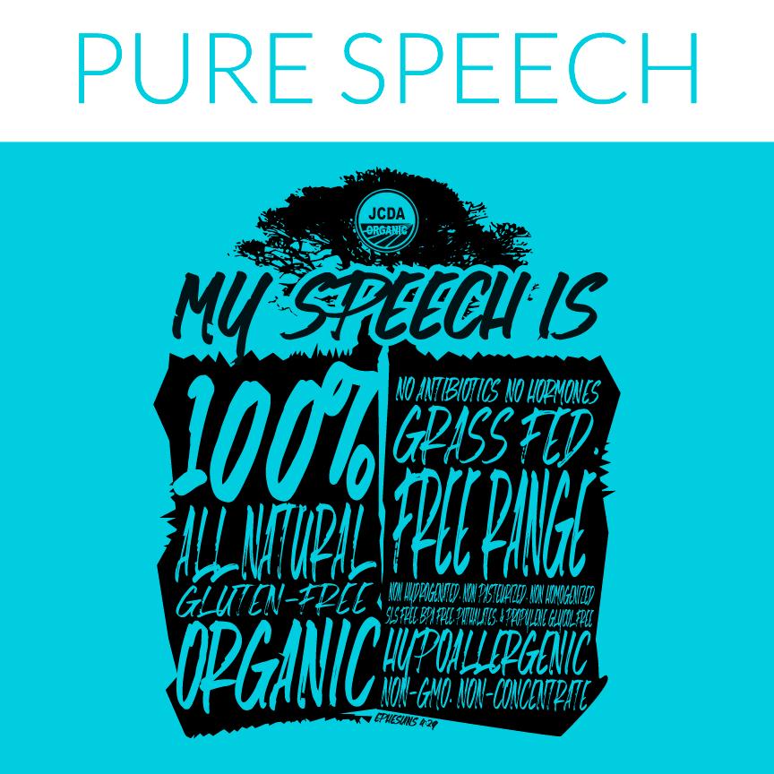 pure speech hoodie design