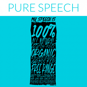 pure speech shirt design